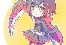 ruby / Ruby a egyik kedvenc karakterem az rwby-ből.