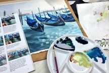 My Watercolour Projects in progress / Stage by stage photogrphs as I paint my watercolour paintings (watercolor)