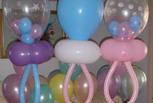 Balloons-Baby Shower / Baby Gender Reveal or Baby Shower decoration ideas.  Great time to add a photo booth or flip book.