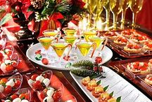 Christmas party ideas / Christmas party snacks, drinks, and party ideas