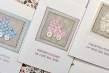 Handmade New Baby Congratulation Cards / Unique handmade greeting cards, made individually from my home and sold in local shops.