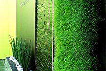 Murs végétaux d'Hydro Décor / Différents murs végétaux vous sont présentés afin de vous donner une idée de ce que nous pouvons vous proposer.