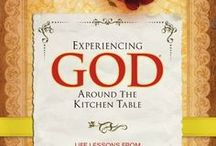 """Experiencing God Around the Kitchen Table / My FBC Women are currently doing an interactive study of Marilyn Blackaby's """"Experiencing God Around the Kitchen Table"""".  The 3rd Wednesday of the month, we discuss highlights from her book, and share practical tips for eating healthy, thrifty shopping, decorating our homes and more.  We are listing our recipes and other tips discussed here."""
