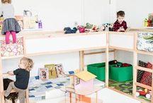 Habitaciones infantiles / Somos fans de la decoración divertida. Camas diferentes e ideas que puedes hacer tú mismo para decorar la habitación de los pequeños.