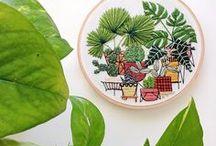 DIY // Sticken / Stich um Stich werden hier mit Nadel und Faden Kunstwerke geschaffen! // Embroidery