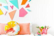 INTERIOR // BUNT & KREATIV / HAPPY COLOURS / lebe bunter! design-interior in allen farben des regenbogens für ein kreatives, individuelles zuhause. // bold, bright & creative interiors!