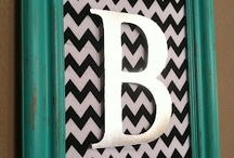 DIY wall art {monograms and typography} / by Mel the Crafty Scientist