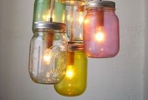 New life for old glass jars and tin cans