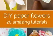Papercraft - Flowers / Who doesn't like flowers? Real, silk or paper, they just make us smile! Please step into our 'garden' and be sure to send us links to your favorite flowers too! #papercrafting
