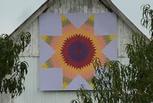 Barn quilts / Love these barn quilts...an artistic way to bring quilting to part of buildings across the country. There are many in Wisconsin where I live and they are fun to see. / by Kim Teigen