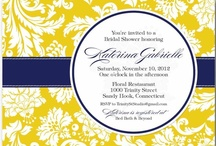 You're Invited / Invitations, cards, menus and whatever else I can collect to inspire the inner graphic designer in me. / by Dusty Gauthier