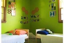 Shared Bedroom for a Brother and Sister / Time to transition from the nursery to the big kids room.  A brother and a sister can easily share a room! Boy and Girl Bedroom Ideas.  Toddler Bedroom Ideas.  Shared Bedroom.  Children's Room.