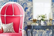 Design Focus:  Wallcovering / Beautiful wallcoverings and interesting paint ideas.