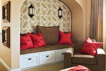 Design Focus:  Reading Nooks / Lovely spaces to read and recharge.