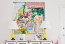 Design Focus:  Oversized Art / oversized art makes, well, an oversized statement