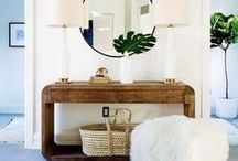 Entryway Ideas / Ideas, design, inspiration, and DIY projects for small entryways, large entryways, and mudrooms. Tips for DIY projects for small spaces, and affordable DIY inspiration for the home.
