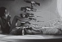guns and women / guns are interesting/dangerous/controversial..put them with women, well...:)