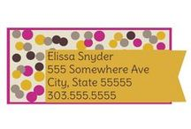 Address & Monogram Labels / Premium quality labels to leave your name where it matters most.  kidecals.com / by kidecals