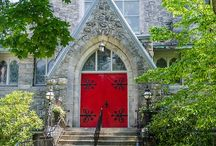Red Doors of the Episcopal Church / Some of the Episcopal Churches with Red Doors. / by Sam Farrar Williams