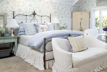 Bedrooms That Make You Want To Go To Bed / Bedrooms and bed spreads, comforters, pillows, dust ruffles or bed skirts, lamps,chairs, end tables, fabrics, upholstery, bed frames and headboards, dressers, high boys, armoires, rugs, DIY pillows, upholstered headboards, mattresses, chairs and foot stools.  / by Julie Johnson