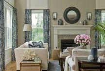 Living Room & Family Rooms / Living room floor plans, couches, chairs, colors of fabrics and lighting. End tables, rugs, carpets,tables, arm chairs, lamps, coffee tables. Couches / by Julie Johnson