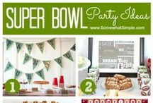 Superbowl Party! / Awesome ideas to make your Super Bowl party rad! Invites, recipes, decor, and party ideas. Have fun this sunday! GO BRONCOS!