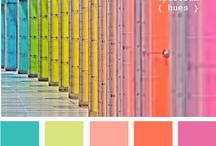 Design Color Combos / Palates of design for designers looking for color combinations, paint options or color themes and hues / by Julie Johnson