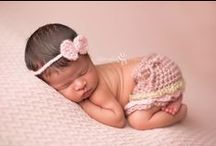 Newborn Girl Session / Newborn girl posing, props and session inspiration.