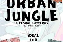 Urban Jungle / Urban Jungle. All about the tropical trend style! Tropical Graphics included, so you can recreate this graphic style on the spot. This board contains affiliate links.