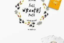 Fall graphics / Autumn! The best season of all!  This is a collection of fall graphics for your seasonal #graphicdesign projects and crafts.