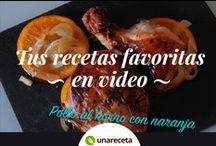 Tus recetas favoritas en vídeo / Las mejores recetas en rápidos vídeos que te ayudarán a preparar platos de chef en menos de lo que piensas.