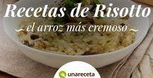Recetas de risotto / ¿Eres un amante del arroz? Aquí tienes las mejores recetas de risotto para que aprendas a prepararlo en casa como un auténtico chef italiano. Además podrás probar nuevos sabores como el risotto de calabaza o de gambas ¡No te los pierdas!