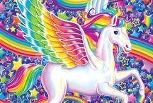 Diabeetus and Friends / Lisa Frank Rainbow Unicorns, Glitter Kittens, Candy Ice Cream, Care Bears, and Neon