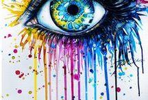 Oči / Moje nástěnka se týká očí.