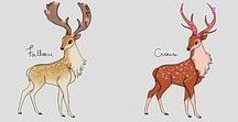 How to deer...lol / Deer and antler drawings. *I don't own any of these pic's.*