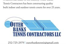"""OuterBanksTennisContractors """"All Things TENNIS!"""" / www.outerbankstenniscontractors.com Full service tennis court construction company in NC, SC, GA, VA!  Find us on Facebook as well! / by SouthernSecrets CarolinaStyle"""