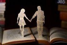 "Bookish Art / ""I cannot live without books."" - Thomas Jefferson"