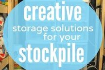 Stockpile Organization / It is crucial to keep your stockpile and prepping items organized. This is a collection of tips for how to keep your stockpile rotated, organized and making sure you have sufficient survival supplies on hand! / by afrugalchick
