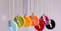 Création bijoux // Wool Jewelry / Idées de créations originales de bijoux laine et crochet.  Wool and crochet jewels.