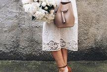 Vintage White Dress / Modern retro white dresses