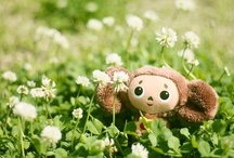 Cheburashka / Cheburashka (Russian: Чебура́шка; IPA: [tɕɪbʊˈraʂkə] ( listen)), also known as Topple in earlier English translations, is a character in children's literature, from a 1966 story by Soviet writer Eduard Uspensky. He is also the protagonist (voiced by Klara Rumyanova) of the stop-motion animated films by Roman Kachanov (Soyuzmultfilm studio), the first film of which was made in 1969. / by Kikinoord