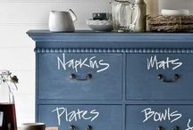 DIY: chalk it up / Chalk board and chalk paint ideas