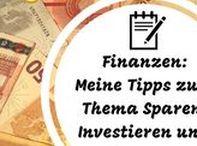 Meine Tipps zum Thema Sparen, Investieren und Finanzen / Nimm deine Finanzen endlich selbst in die Hand! Finde auf dieser Pinnwand meine Tipps, Wissen und Erfahrungen zum Thema Sparen, Investieren und Finanzen für einen erfolgreicher Vermögensaufbau in Eigenregie.