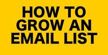 How to Grow an Email List / Grow an email list and learn all the list building techniques and email design tips.