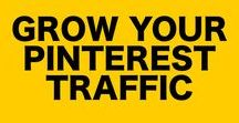Grow Your Pinterest Traffic / Learn the best Pinterest Marketing tips to help your blog. Pinterest traffic tips and how to use Pinterest tips are all contained inside.