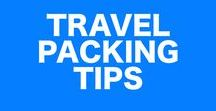 Travel Packing Tips / Traveling around the world and need help packing? Whether you're a minimalist or an extravagant packer, these packing tips and hacks will help you on your next trip abroad!
