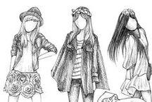 Diseños de ropa / No soy muy fan de la ropa femenina, aun siendo mujer, mi estilo es tipo tomboy, pero en el futuro tratare de cambiar.