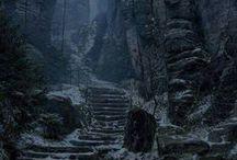 """இes - Vergen i Loc Muine / Vergen and Loc Muinne aesthetic based on the game """"The Witcher 2: Assassins of Kings"""""""