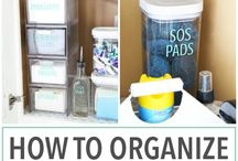Organization ideas / Everything should always be in its place! Organization, cleaning tips, Fly Lady, decluttering, home management, organization ideas and organization inspiration for a tidy, clutter-free and organized home. The best organization tips and tricks found all around the web.