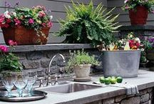 Outdoor Kitchens /  Beautiful settings to use for your outdoor space / by Forno Bravo